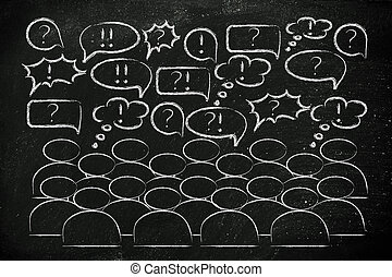 people expressing their feelings or discussing a popular...