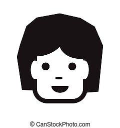people face icon illustration design