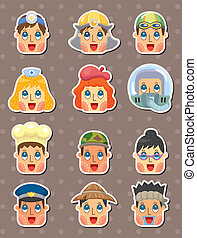 people face stickers