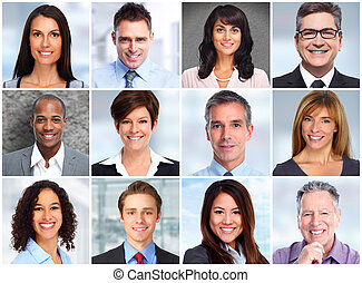 People faces collage.