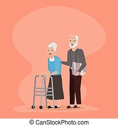 people family flat design image