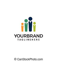 People Family Logo template vector