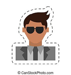 people fashionista man icon image