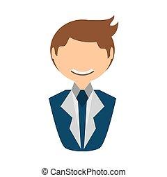people fashionista man icon image, vector illustration...