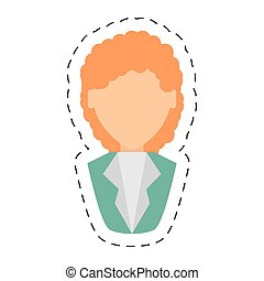 people fashionista woman icon image, vector illustration ...