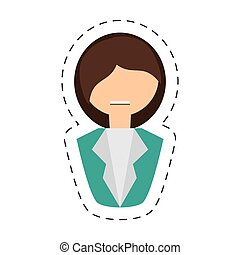 people fashionista woman icon image, vector illustration...