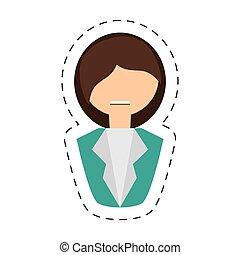 people fashionista woman icon image, vector illustration...