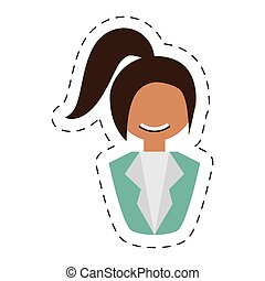 people fashionista woman with head taid , vector...