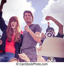 People fighting for human rights - Picture of people on...