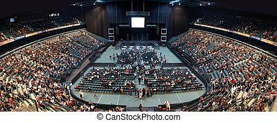 people filling the concert hall