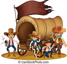 People from the wild West - Illustration of the people from...