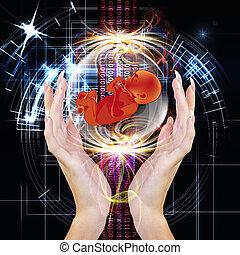 Genetic Engineering - People future. Cloning. Genetic ...