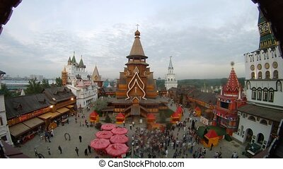 People go sightseeing of cultural entertainment complex,...