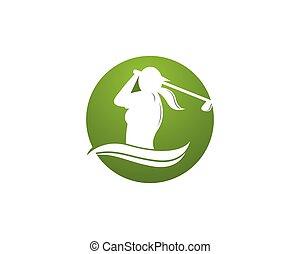 People golf logo design template