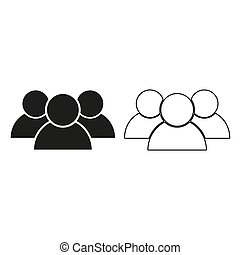 people - green vector icon