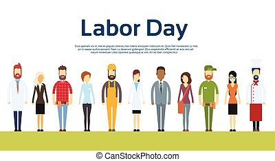 People Group Different Occupation Set, International Labor...