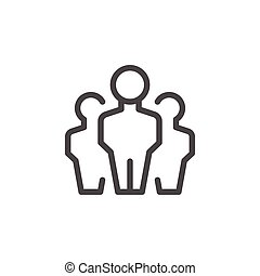 People group line icon
