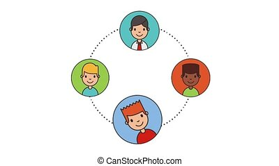 people group men characters net work animation hd