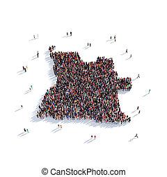 people group shape map Angola