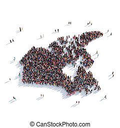 people group shape map Canada
