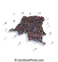 people group shape map Democratic Republic of the Congo
