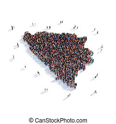 people group shape map Federation of Bosnia and Herzegovina