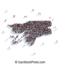 people group shape map Guinea-Bissau