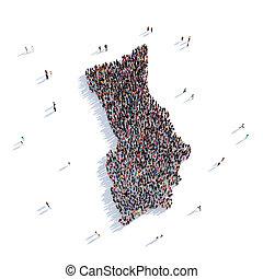 people group shape map Herm