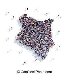 people group shape map Kenya