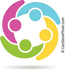 People Group Social Network Logo.