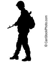 People gun on white