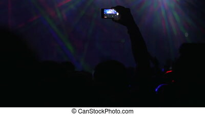 People have a good time on the night concert