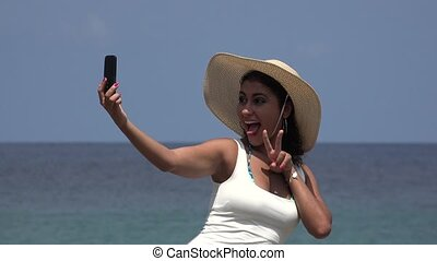 People Having Fun Taking Selfies