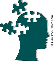 People head with puzzles
