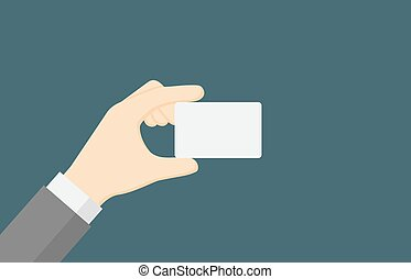People Holding A Blank Business Card