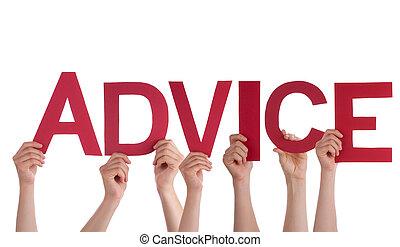 People Holding Advice