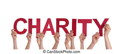 People Holding Charity