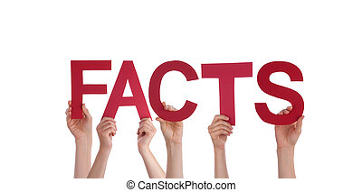 People Holding Facts - Many People Holding the Red Word...
