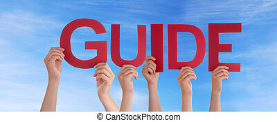 People Holding Guide in the Sky