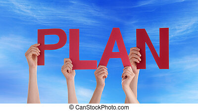 People Holding Plan in the Sky