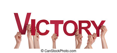 People Holding Victory