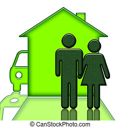 People Home and Car