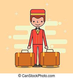 people hotel service - bellboy baggage hotel service image ...