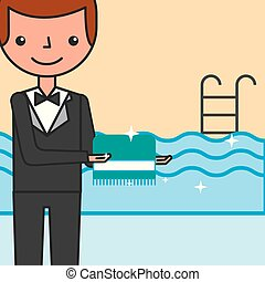 people hotel service - hotel service manager with clean ...