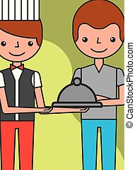 people hotel service - hotel service restaurant waiter and ...