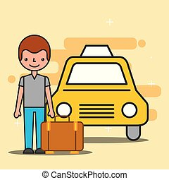 people hotel service - hotel service taxi and customer with ...