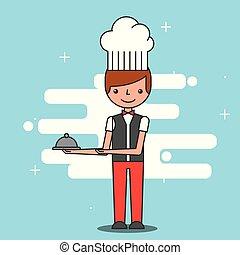 people hotel service - restaurant waiter hotel service image...
