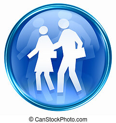 people icon blue