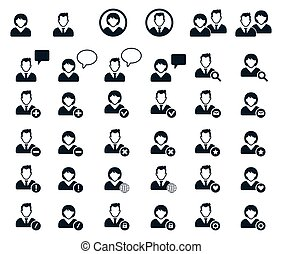 People icon. Human Resources Icons - User black icons set -...