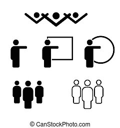 people icon in black and white color illustration